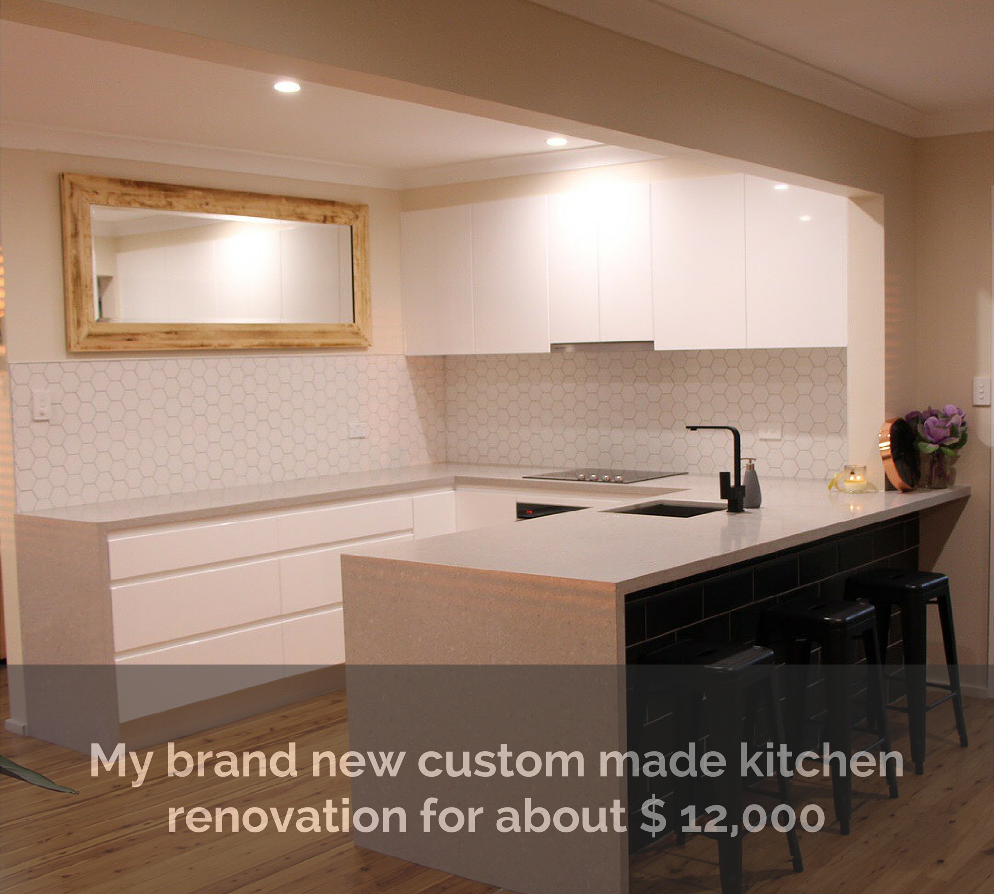 brand new custom made kitchen renovation for about $ 12,000