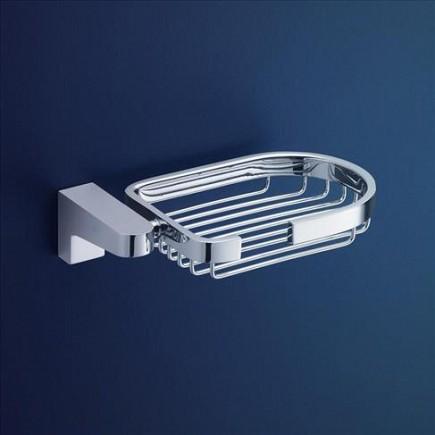 Dorf Arc Wall Soap Basket Square Bathroom Accessories Chrome