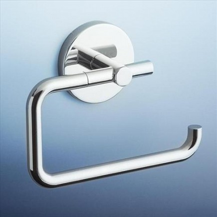 Caroma Liano Wall Round Toilet Paper Roll Holder Chrome
