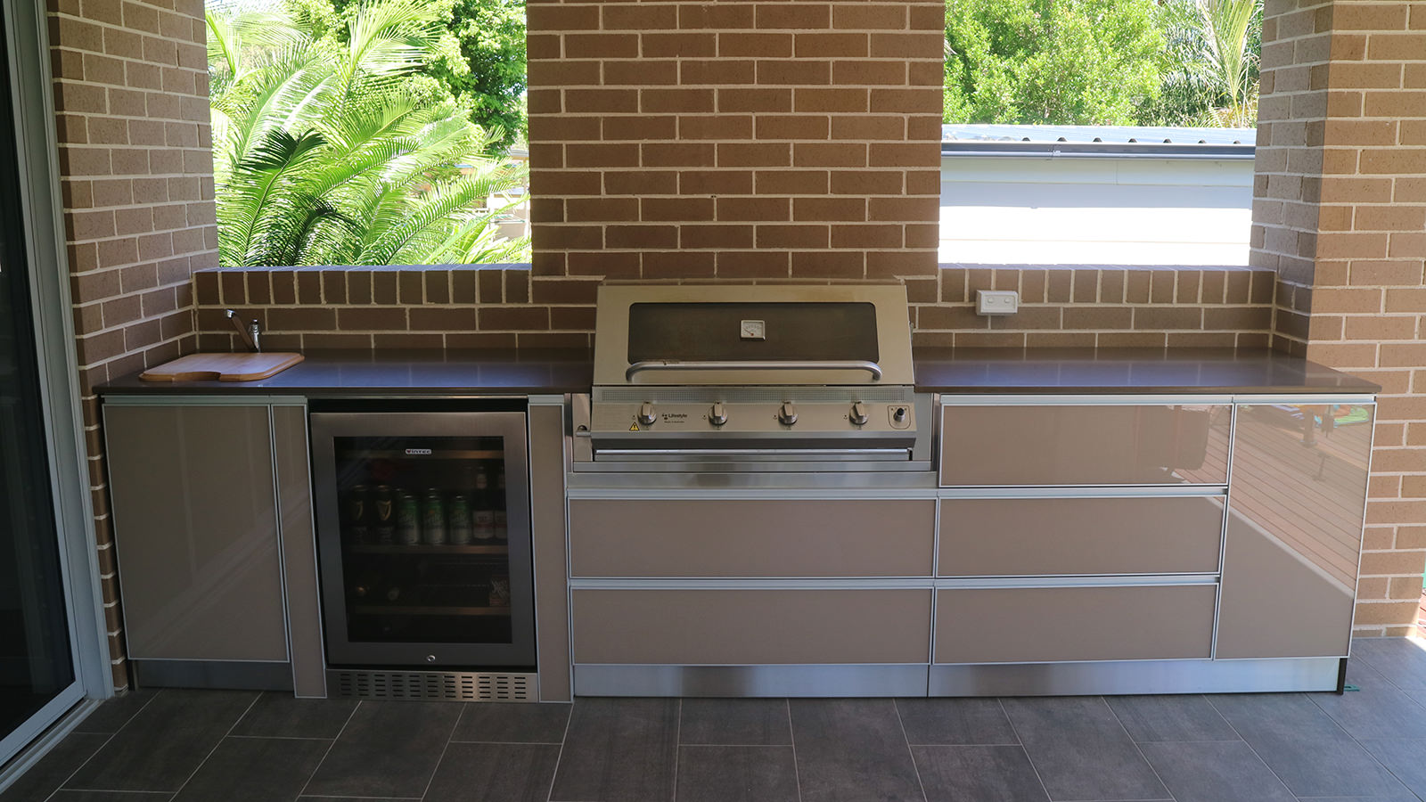 Five dock outdoor kitchen