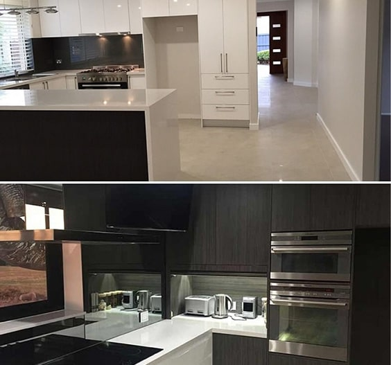 Black And White Kitchens Sydney Custom Matte And Glossy Cabinets