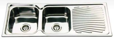 Double Bowl & Drainer Sink