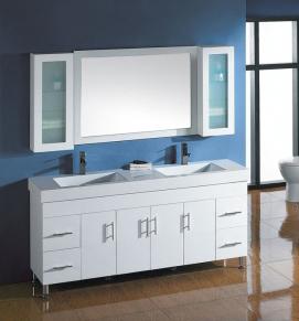 Solid Door Bathroom Vanity P4012-1800W